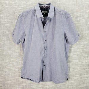 Ted Baker London Blue Shirt 5 XL Pearl Buttons